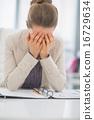 workplace stress woman 16729634