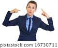 Business woman showing crazy gesture 16730711