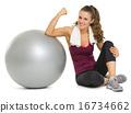 relaxing, ball, woman 16734662