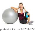 relaxing, ball, woman 16734672