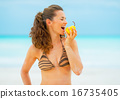 bikini beach woman 16735405