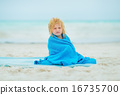 towel, enjoying, beach 16735700