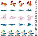 작은 새와 오리 16739565