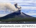 平成27年6月 海潟漁港から見た桜島の爆発的噴火 16740551
