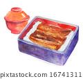 水彩畫 牛節 日本食品 16741311