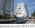 Sailing ship Nihon Maru's total sail exhibition sail · full bow decoration 16741375