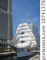 Sailing ship Nihon Maru's total sail exhibition sail · full bow decoration 16741376