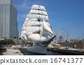 Sailing ship Nihon Maru's total sail exhibition sail · full bow decoration 16741377