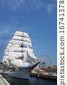 Sailing ship Nihon Maru's total sail exhibition sail · full bow decoration 16741378