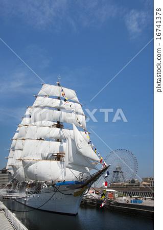 水手 帆船 日本丸 16741378