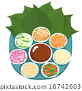 Leaf wrapped  Thai appetizer vector illustration 16742603