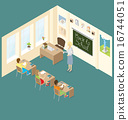 Vector 3d Flat Isometric With Education Concept 16744051