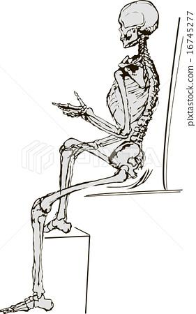 Skeleton on white  vector illustration 16745277