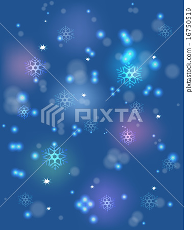 Snowflakes and festive lights on a blue base. EPS10 vector illustration 16750519