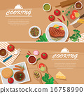cooking banner flat design template 16758990