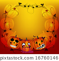 halloween background with pumpkins 16760146