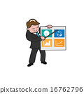 cartoon, presentation, businessman 16762796