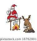Christmas Santa and Reindeer drinking coffee 16762801
