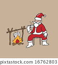 Christmas Santa drinking coffee 16762803