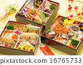 multi-tiered box, stacked box, new year dishes 16765733