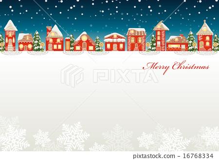 矢量 聖誕快樂 下雪 16768334