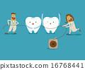 Dentist take dental floss 16768441