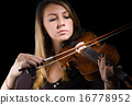 Woman and violin 16778952
