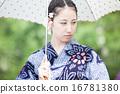 浴衣の日本女性 16781380