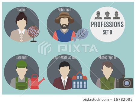 Stock Illustration: Profession people. Set 9