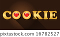 cookie word with strawberry jam cookies 16782527