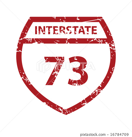Red grunge road sign logo 16784709