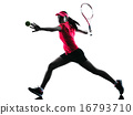 woman tennis player sadness silhouette 16793710