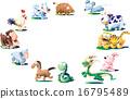 生肖 動物 新年賀卡材料 16795489