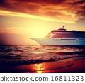Yacht Cruise Ship Sea Ocean Tropical Scenic Concept 16811323