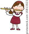 木管樂器 長笛 吹 16813923