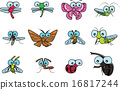 Various insects vector 16817244