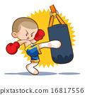 muaythai sandbag boxing kick 16817556