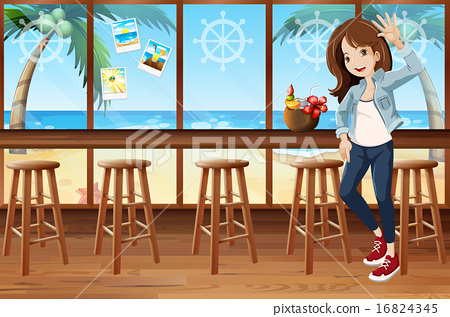 Woman and cafe 16824345