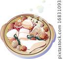 锅里煮好的食物 用锅烹饪 日式料理 16831093