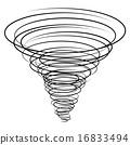 black tornado symbol 16833494