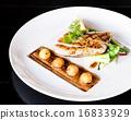Fresh mozzarella sandwich tomato and salad . 16833929