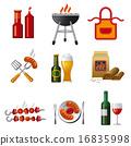 图标 烧烤 饮料 16835998