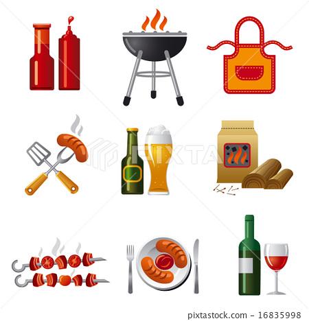 barbecue icon set 16835998