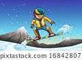 Snowboarding 16842807