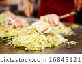 Japanese food okonomiyaki , Japanese pizza 16845121