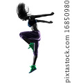 woman zumba dancer dancing exercises silhouette 16850980