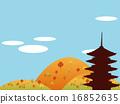 사찰, 절, 오층탑 16852635