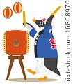 太鼓 企鹅 矢量 16868970
