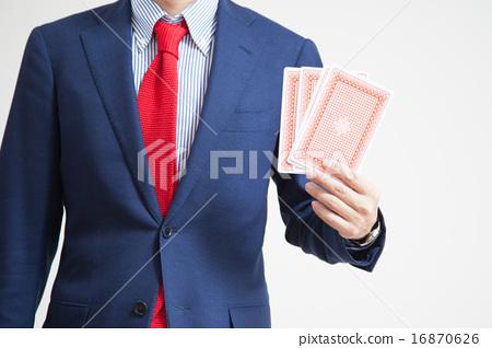 與卡片的一個商人 16870626