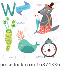 Very cute alphabet.W letter.  16874336